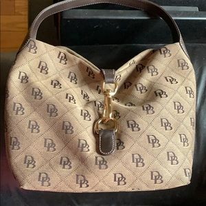 Dooney & Bourke Hobo Signature Claw Clasp Handbag